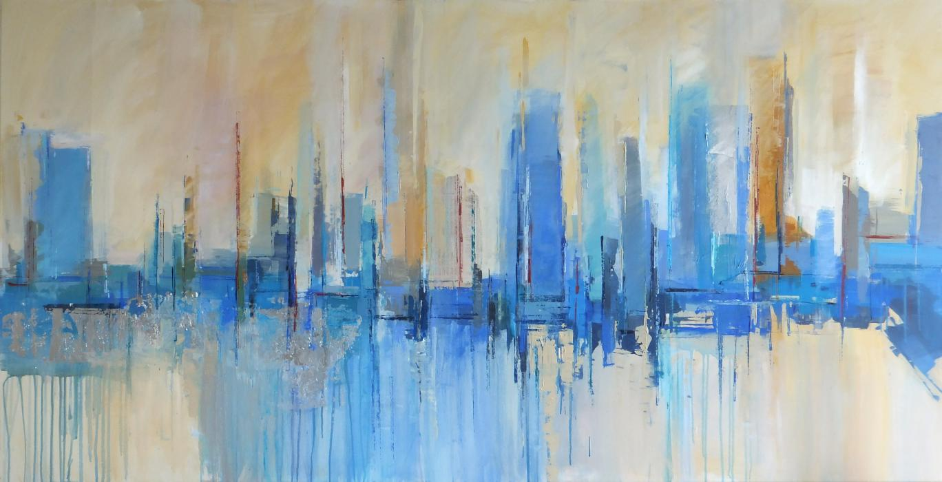 Abstract cityscape 3 - SOLD